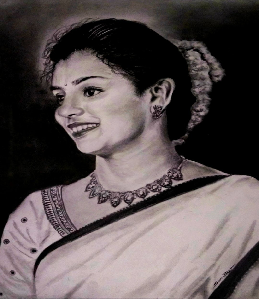 Charcoal Painting photo