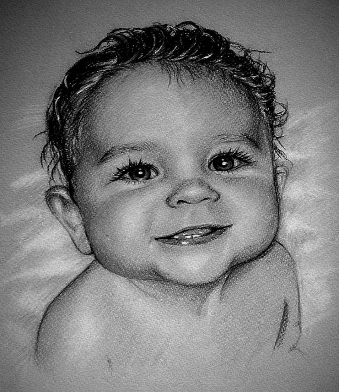 Personalized Child COLOR PENCIL portraitS from photo
