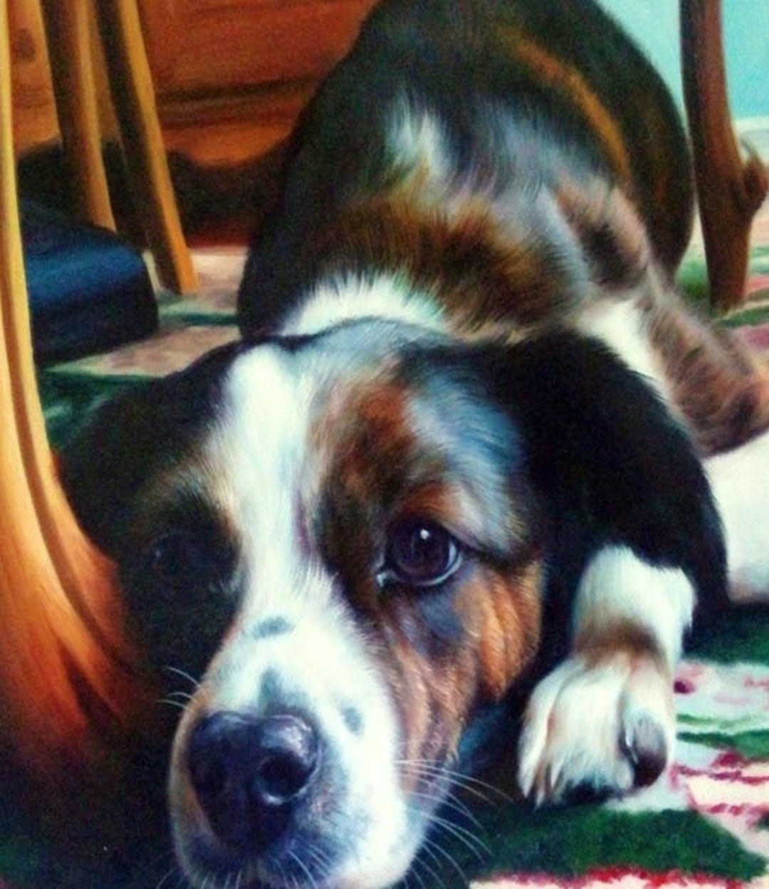 pet-oil-portrait Handmade Oil Painting Photo