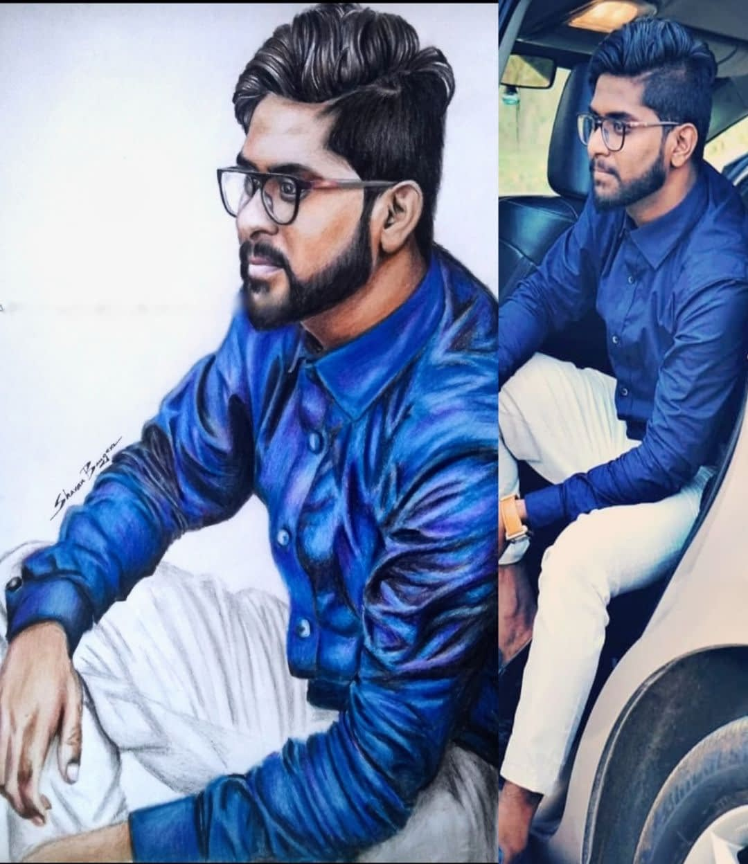 brother colored pencil portrait | Birthday Colored Pencil Painting From Photo